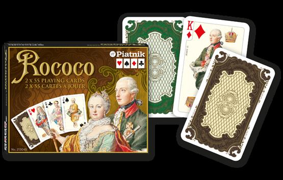 Spielkarten 2 x 55 Rococo