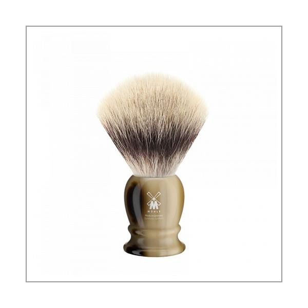 Rasierpinsel, Silvertip Fibres©, Edelharz hornbraun