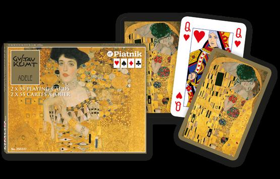 Spielkarten 2 x 55 Gustav Klimt Adele