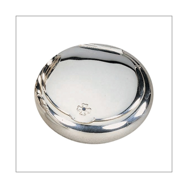 Sillem's Tabakdose silverplated 9 cm