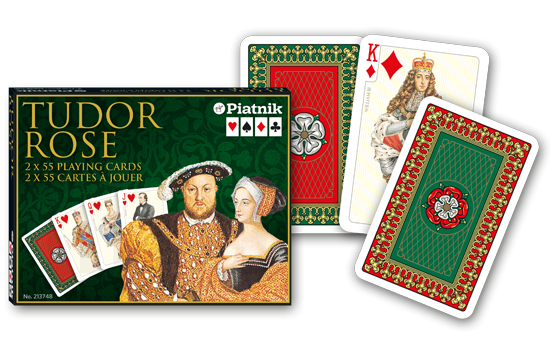 Spielkarten 2 x 55 Tudor Rose