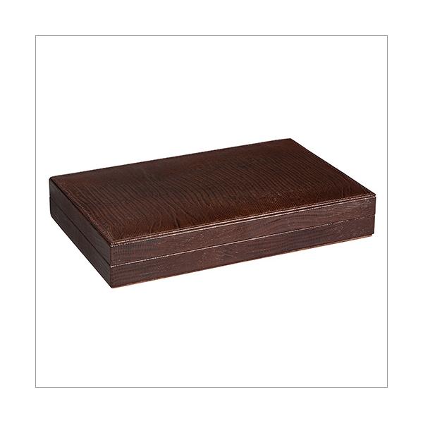 Backgammon Eidechsprägung braun