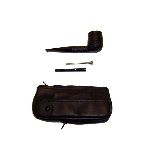 Dunhill-Diehl Anfänger- / Reiseset Shell Briar schwarz 4103F