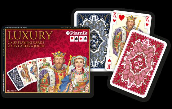Spielkarten 2 x 55 Luxury