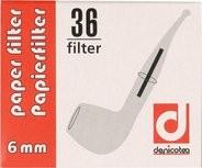 Denicotea Papierfilter 6mm / 36 Stück