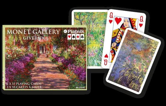 Spielkarten 2 x 55 Monet Gallery Gardens