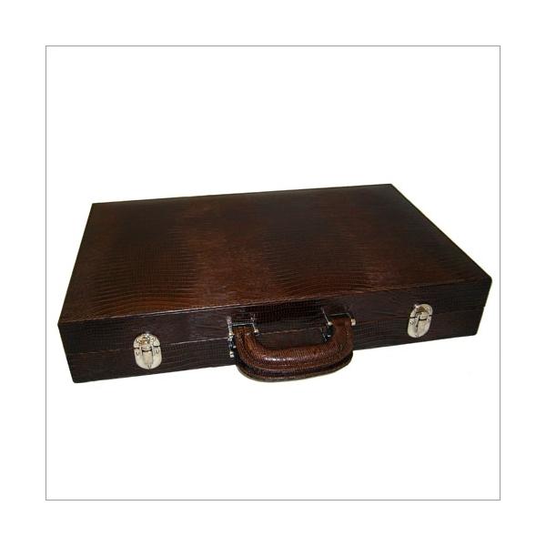 Backgammon braun große Größe Eidechsprägung