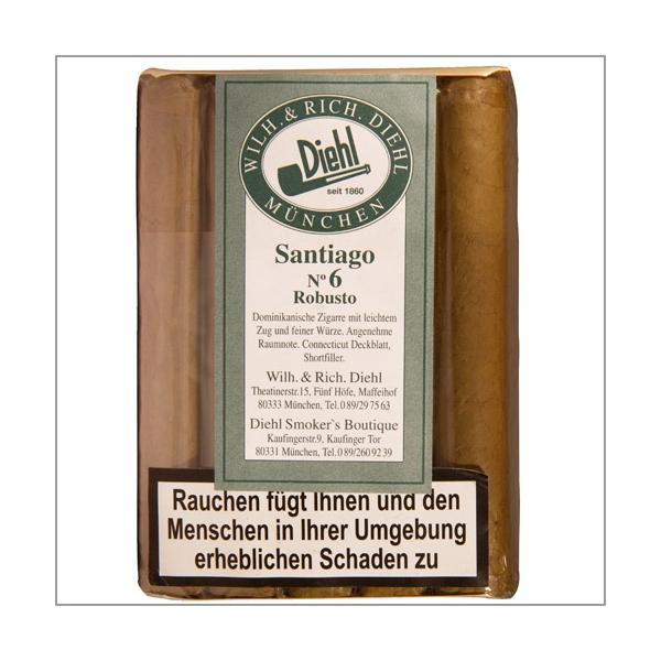 Diehl Shortfiller Santiago No.6 Robusto 25er-Pack
