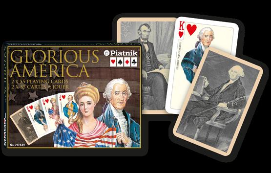 Spielkarten 2 x 55 Glorious America