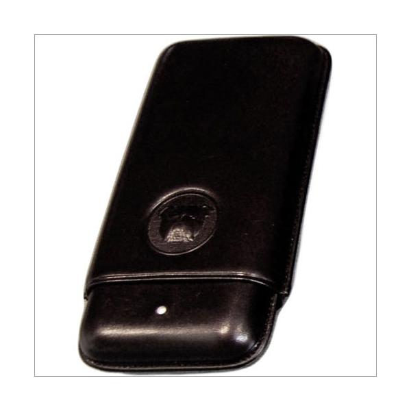The White Spot-Dunhill London 3er Zigarrenetui Corona schwarz