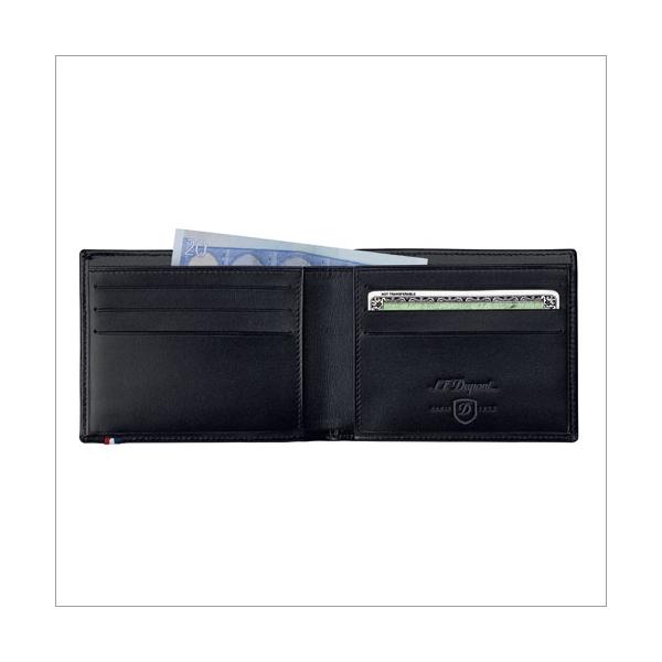 S.T. Dupont Brieftasche blau 6 Karten RFID-pro