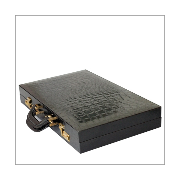 Backgammon schwarz Kroko Turniergröße
