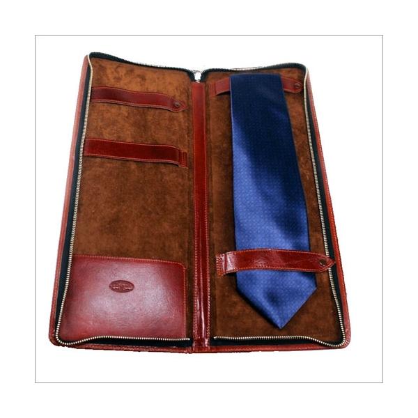 Krawattentasche Diehl Kalbsleder whisky