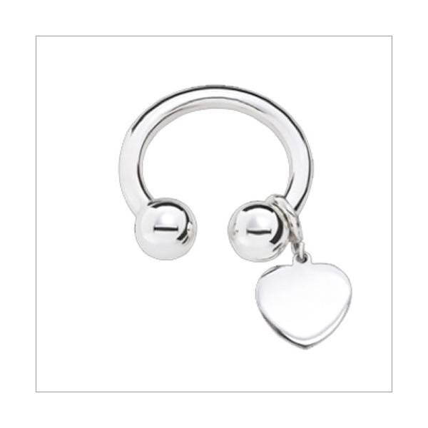 Schlüsselring rund offen mit Herzanhänger