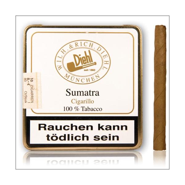 Diehl Sumatra Cigarillo 10St. in der Blechbox