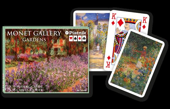 Spielkarten 2 x 55 Monet Gallery Impressionist