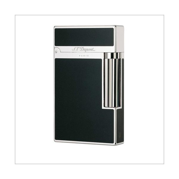 S.T. Dupont Feuerzeug Linie 2 Chinalack schwarz / silber