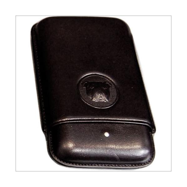 The White Spot-Dunhill London 3er Zigarrenetui Robusto schwarz