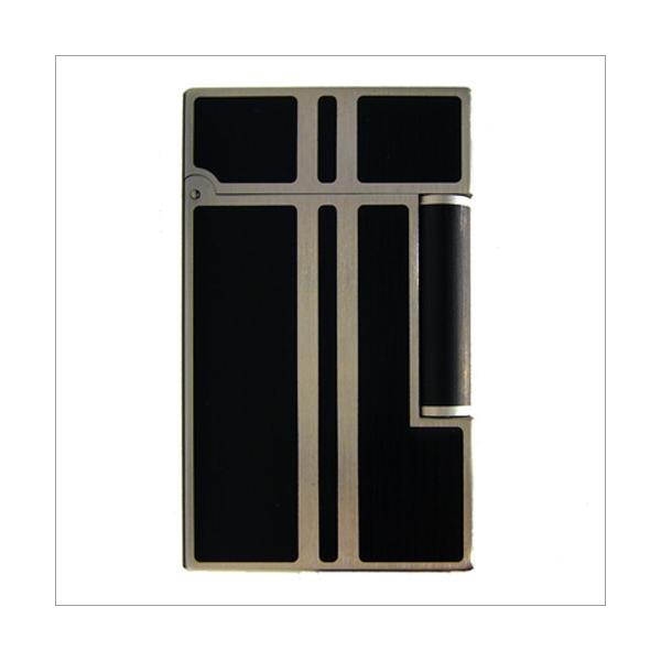 S.T. Dupont Feuerzeug Linie 2 Chinalack schwarz matt Palladium