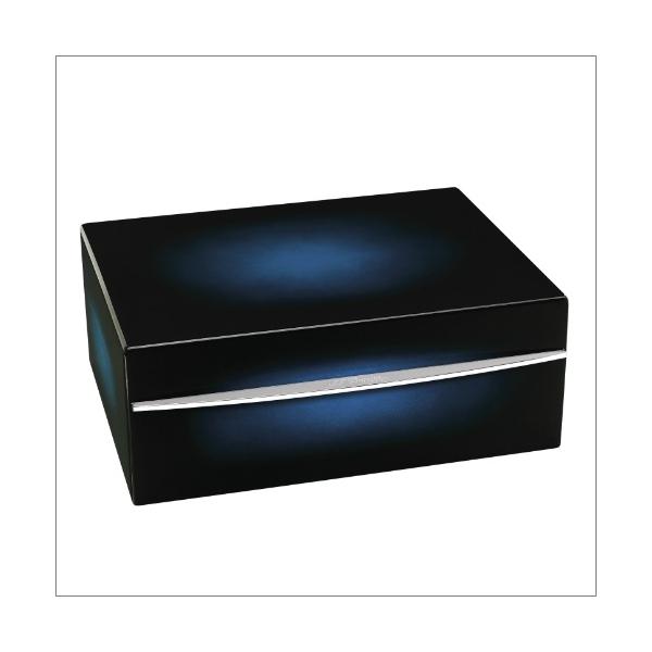 S.T. Dupont Humidor Sunburst blau für ca. 75 Zigarren