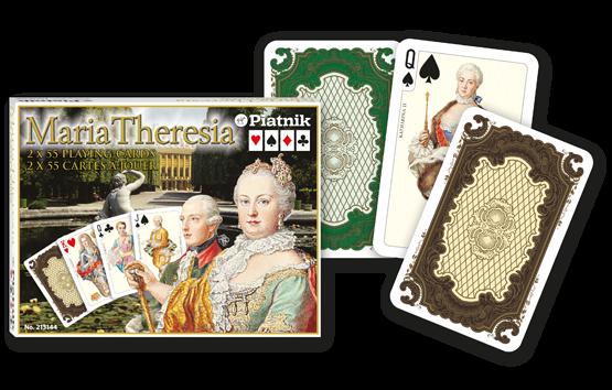 Spielkarten 2 x 55 Maria Theresia