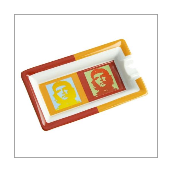 Elie Bleu Zigarrenaschenbecher Che Pop Art rot / orange