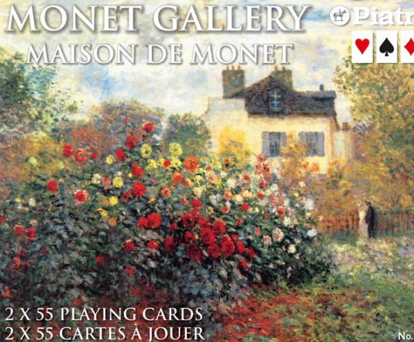 Spielkarten 2 x 55 Monet Gallery Maison de Monet