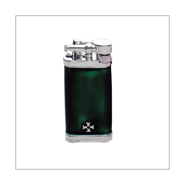 Sillem's Old Boy Emaille grün Pfeifenfeuerzeug