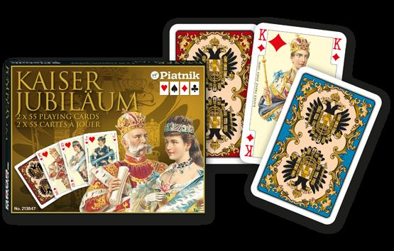 Spielkarten 2 x 55 Kaiser Jubiläum