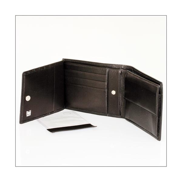 Geldbörse Leder Plonge schwarz 8 Karten + Münzen