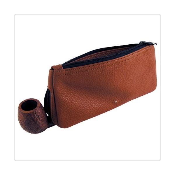 Dunhill Combination`s Pouch terracotta für 1 Pfeife und Tabak