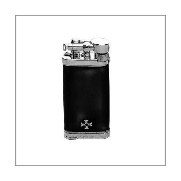 Sillem's Old Boy Emaille schwarz Pfeifenfeuerzeug